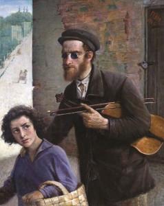 Aklasis su smuiku. 1926 m.