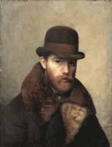 Autoportretas su kailiniais. 1902 m.