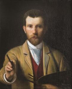 Autoportretas su palete. 1898 m.