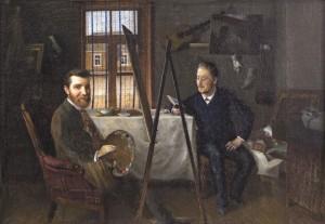 Dailininko dirbtuvėje. 1890–1895 m.