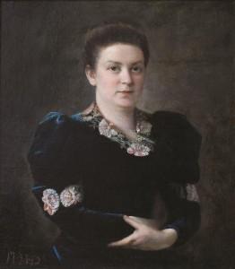 Dama aksomine suknele (Geroberg aksomine suknele portretas). 1908 m.