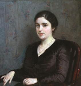 Dama kėdėje. 1917 m.