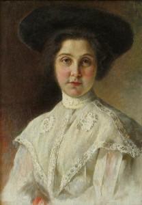 Damos portretas. Y. Penas. 1910 m.