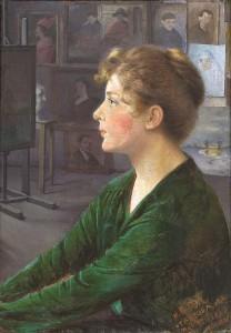 E. Kabiščer-Jakerson portretas. 1919 m.