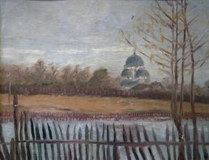 Kaimo peizažas. P. Zankevič. 1920 m.