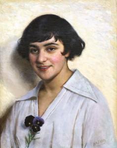 Mergaitė su našlaitėmis. 1915–1917 m.