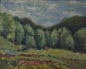 Peizažas.  P. Zankevič. 1920 m.