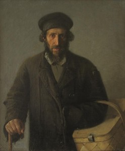 Senis su krepšiu. Y. Penas. 1892 m.