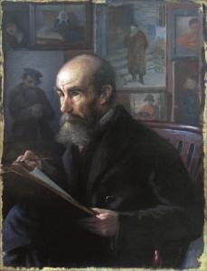 Turžanskio portretas. (Mokinio Turžanskio portretas). Y. Penas. 1920 m.